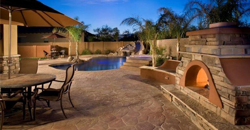 patio decking materials - decorative concrete, concrete staining